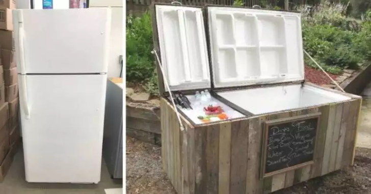 Don't Get Rid Of Your Old Refrigerator. It Will Come in Handy for Summer Barbecues in the Garden!