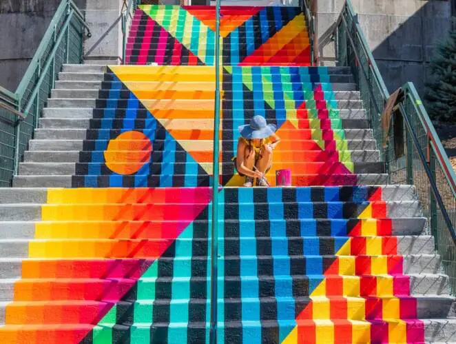 American Artists Have Created Unusual Colorful Stairs