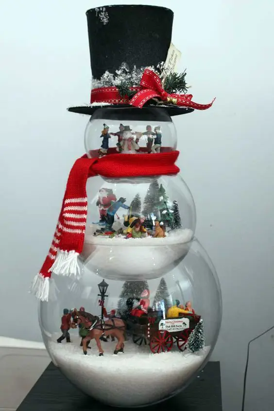 7 Inspiring Ideas for Lovely Snowmen Made of Glass Bowls! Decorations That Will Charm Everyone
