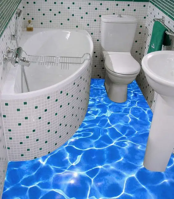 Unusual 3d Floors for the Bathroom! Everyone Can Have Their Own Private Beach