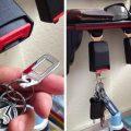 seat belt key holder diy