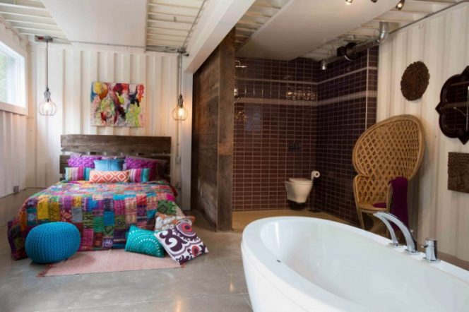 Woman Built Stunning Shipping Container Home – The Interior Looks Beautiful!