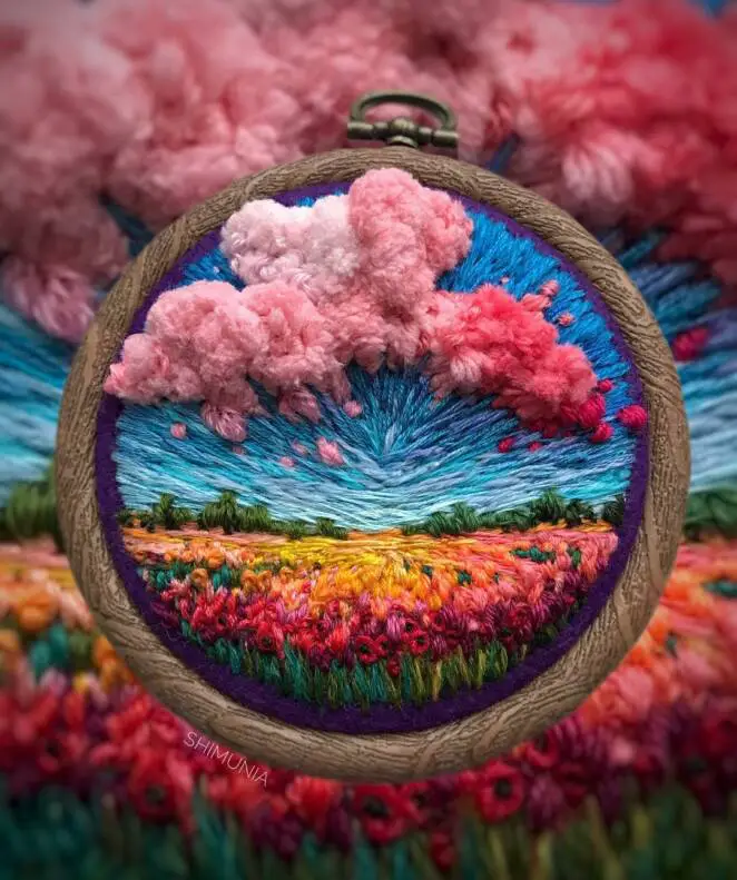 27 Colourful Works Of Embroidery Art, Whose Author Is A Master Of Needlework