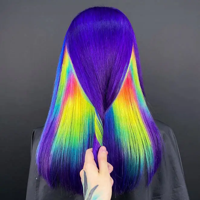15 Chic Hairstyles and Impressively Daring at The Same Time, With a Pinch of Rainbow Colors