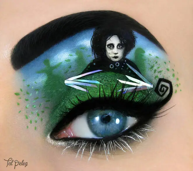 30 Dazzling Make-up Looks With Intense Colors. Eyelid Makeup Just as on Canvas.