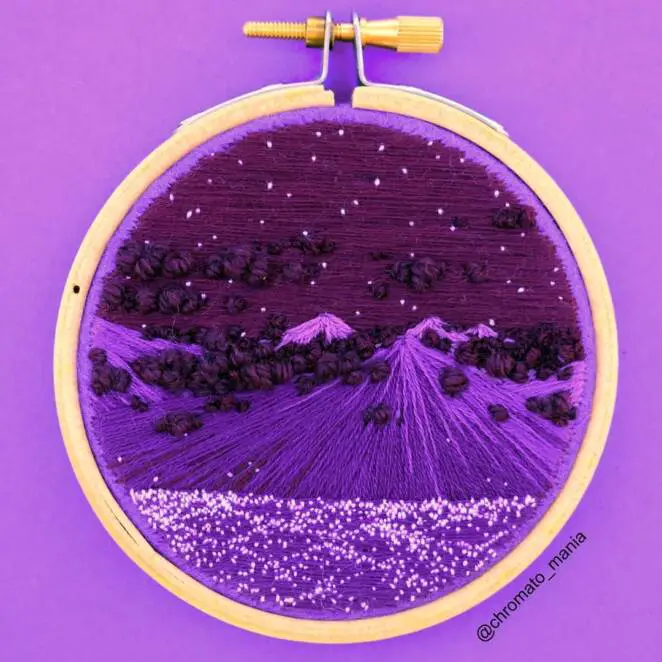 27 Colorful Embroidered Pictures, Which Are Praise of the Beauty of the Surrounding Landscape