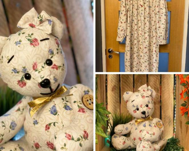 """The """"Remembrance"""" Teddy Bears Are Stitched from the Favorite Outfits of Those Who Have Passed Away. Beautiful Mementos!"""