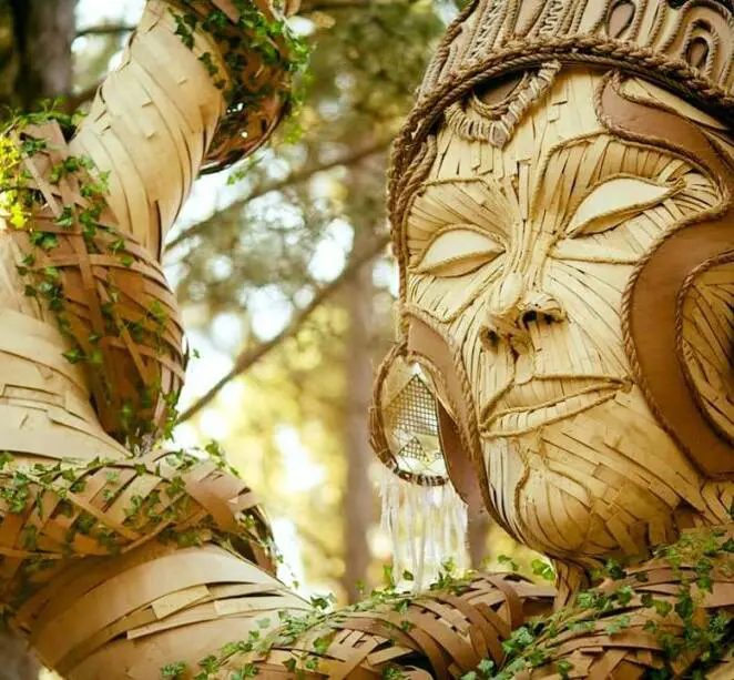 15 Giant Sculptures Resembling Forest Creatures. They Are the Good Spirits of Music Festivals