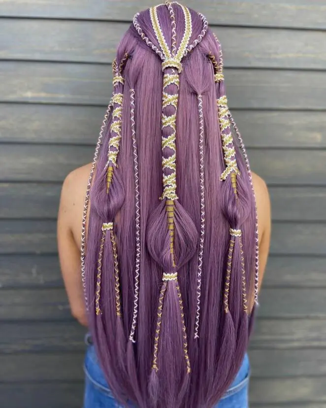 23 Intricately Braided Hairstyles That Look as if Knitted. The Enchanting Color Braids