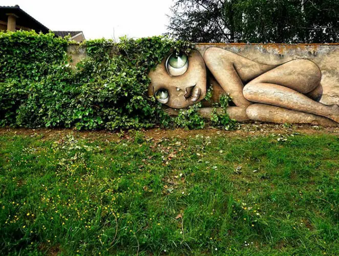 19 Pieces of Street Art Combined with Nature. Nature and Artists Have Created Extraordinary Works!