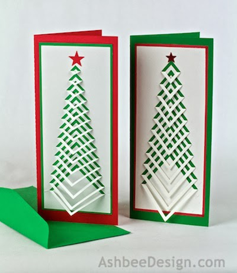 How to Make 3D Christmas Postcard - DIY & Crafts - Handimania