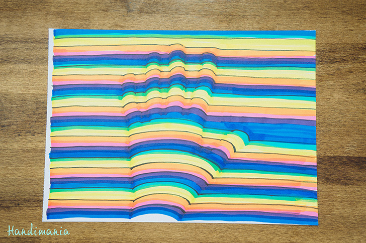 Line Art Hand : How to make d handprint diy crafts handimania