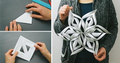 3D Paper Snowflake FB