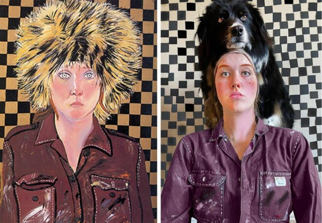 Woman Recreates Scenes from Well-Known Paintings with her Dog