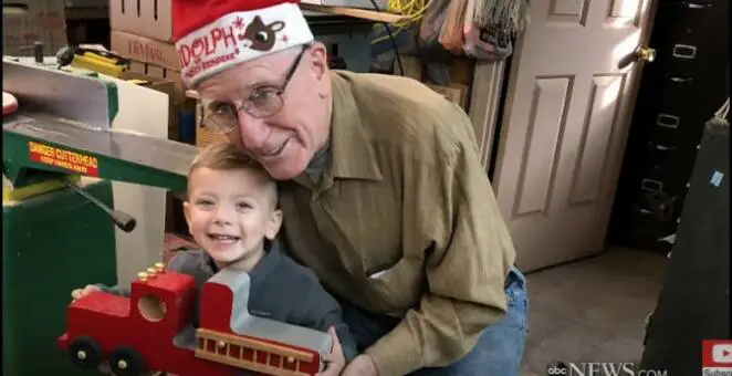 Santa Claus Really Exists! He Lives in the USA and Gives Away Wooden Toys to Children Every Year.