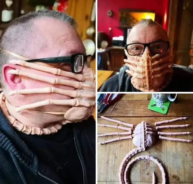 20 Time People Took Face Mask Wear to Another Level, Creativity & Talent