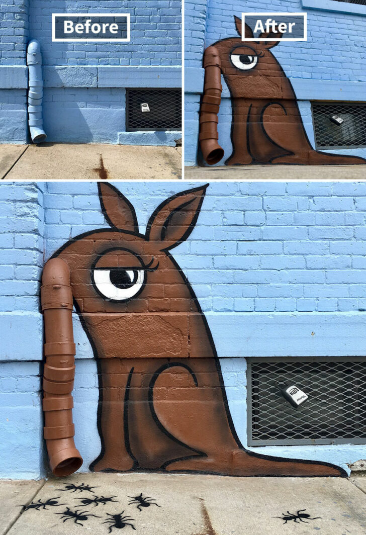 21 Pieces of Art Formed in Places Where Dull Surroundings Meet Creativity