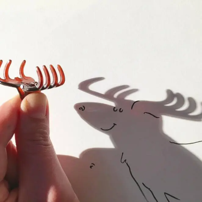 23 Illustrations in Which the Artist Evokes Highly Imaginative Drawings From Shadows