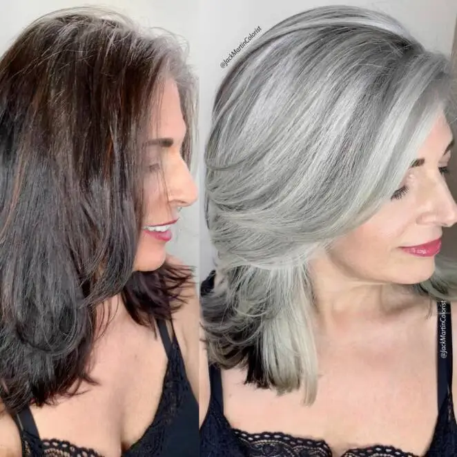 23 Women Who Are Not Scared to Wear Ash Grey Hair Color. Ash Grey Rocking The Face