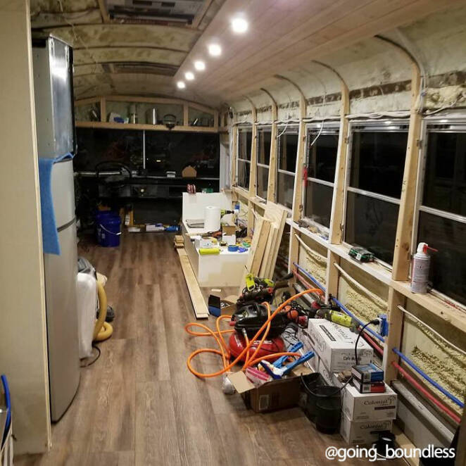 The School Bus Has Become a Beautiful Home on Wheels. It Stands Out for Its Unique Interior