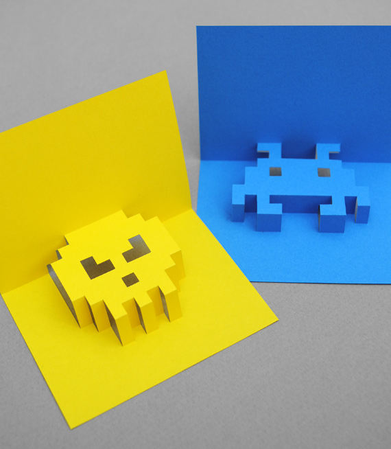 8 Bit Pop-Up Cards