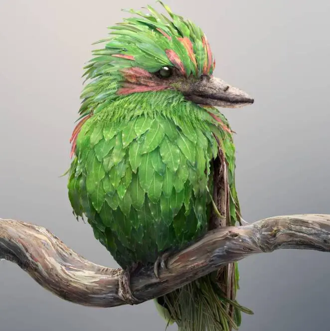 15 Fantastic Animals Woven from Leaves and Colorful Flower Petals. These Are Skillful Photomontages