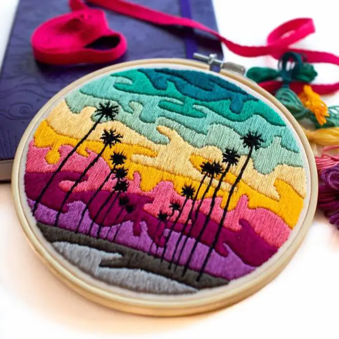 21 Colorful Pictures That Were Created Using Needle and Yarn. It Is a Praise Of Creative Work