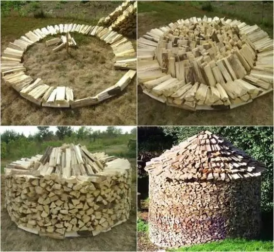 17 Ideas for Turning a Pile of Wood into Decoration. No More Storing in the Shed