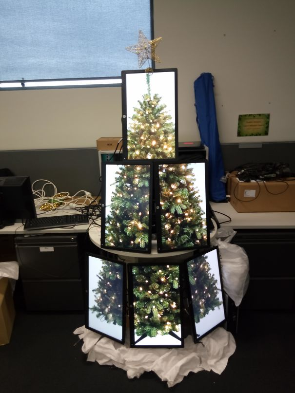 Christmas tree computer lab