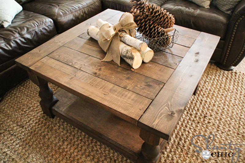 how to make diy square coffee table diy crafts