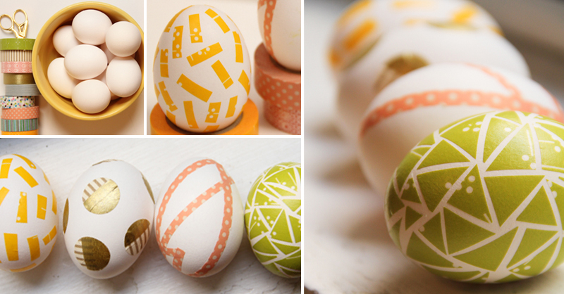 How To Make DIY Washi Tape Easter Eggs amp Crafts