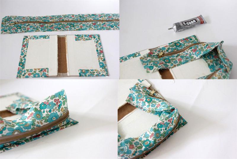 How To Make A Book Clutch With Zipper : How to make diy zipper book clutch sew handimania