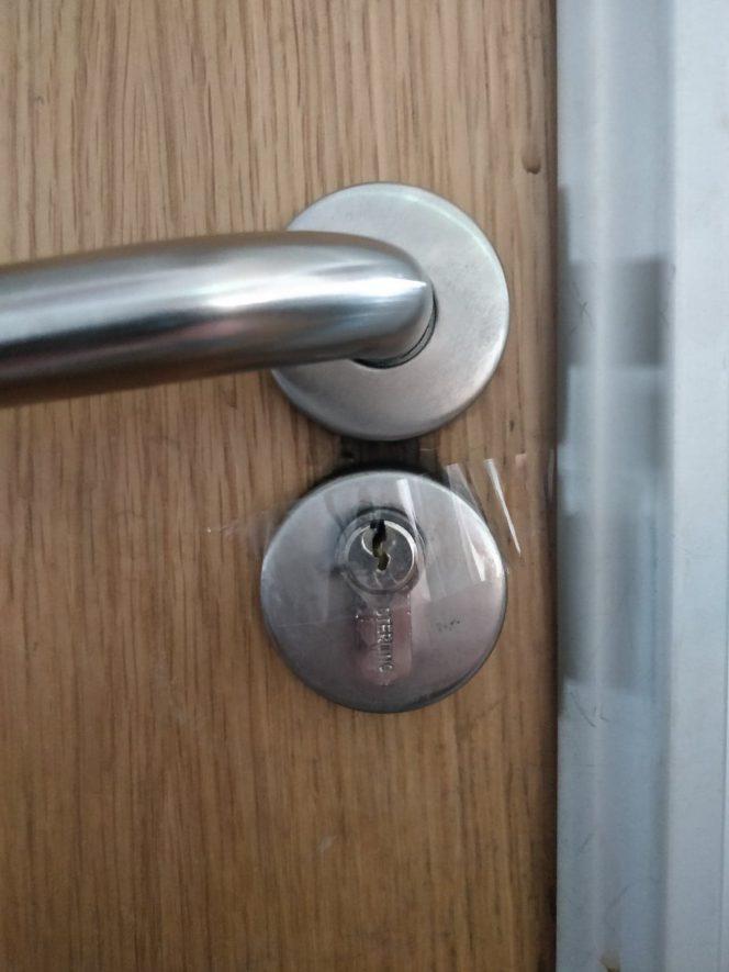 Door lock tape