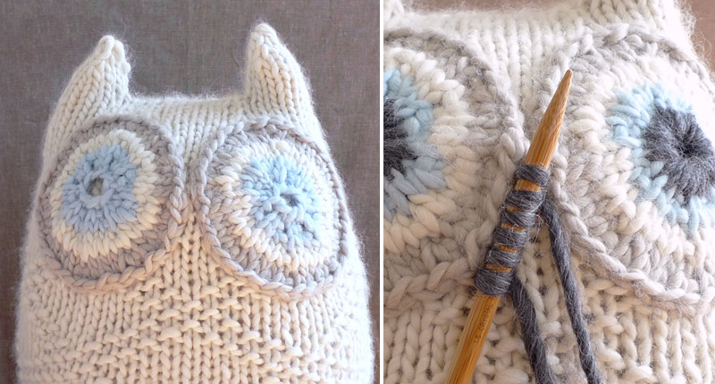 Snowy Owl Knitting Pattern : How to Make Knitted Snowy Owl - Knit - Handimania