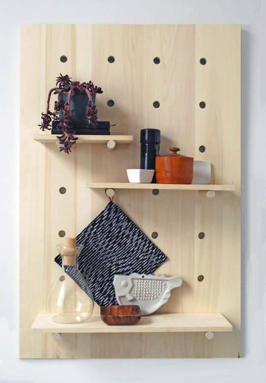 Pegboard Shelving System 1