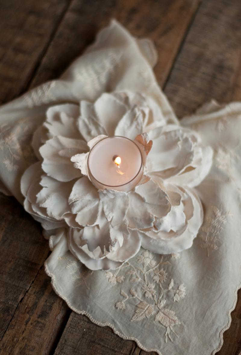 how to make plaster flower votives diy crafts handimania. Black Bedroom Furniture Sets. Home Design Ideas