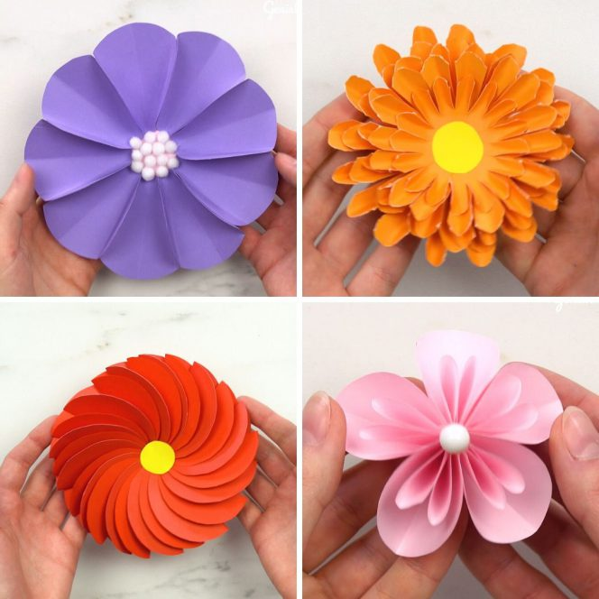 6 gorgeous paper flowers crafts for toddlers, preschoolers and bigger kids