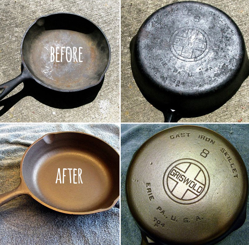 reconditioning re seasoning cast iron cookware. Black Bedroom Furniture Sets. Home Design Ideas