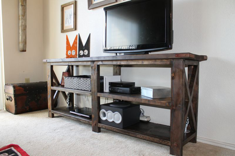 How To Make Rustic X Console Diy Amp Crafts Handimania