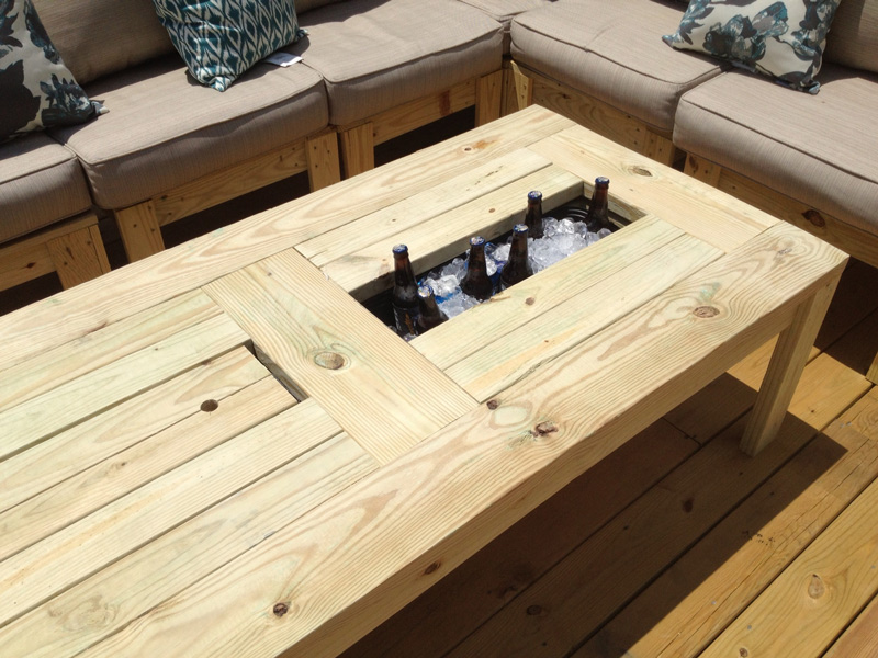 How to Make Table with Built-in Beer Cooler - DIY & Crafts ...