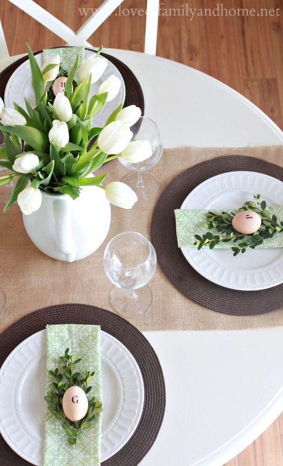 Easter table decorations DIY