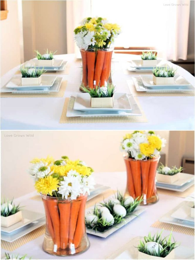 14 cute Easter table decorations. Your family will be delighted!