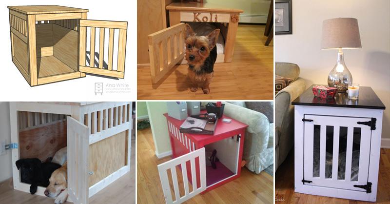 Wood pet kennel fb