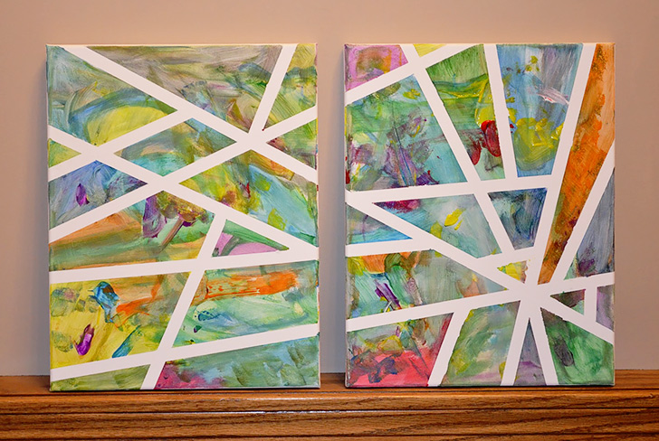 How to Make Adhesive Tape Canvas Art - DIY & Crafts - Handimania