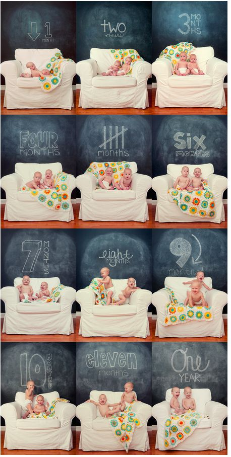 From the Birth till the First Birthday. 21 Ideas for Photo Sessions Recording How Our Children Grow