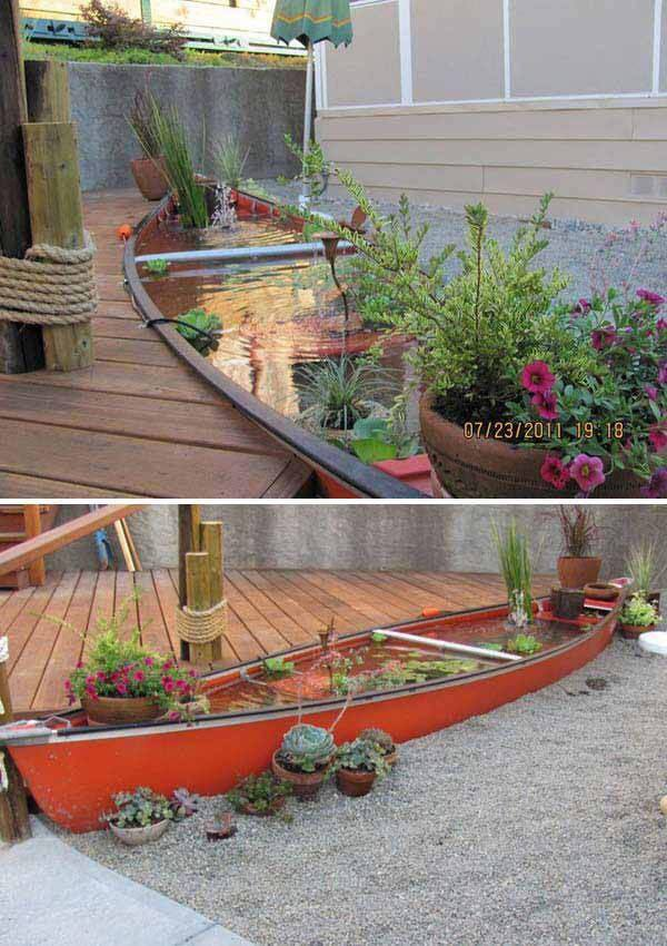 An Old Bathtub Saved From Dumping and Converted Into a Fantastic Garden Decor