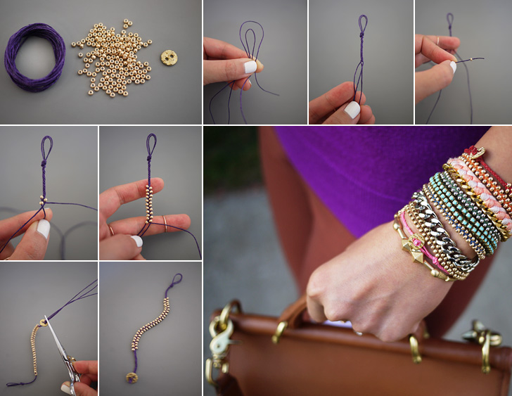 Beaded Bracelet Collage
