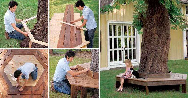 How To Make Bench Around The Tree Diy Amp Crafts Handimania