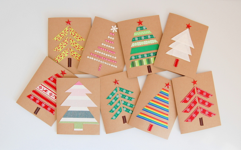 17 Beautiful Diy & Homemade Christmas Card Ideas