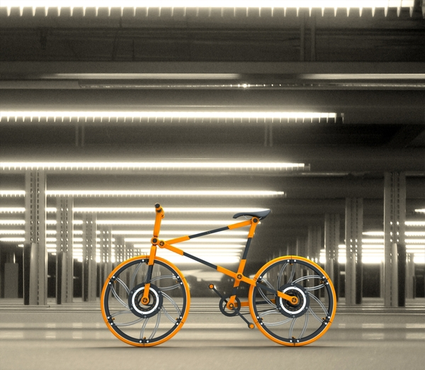 Innovative Folding Bike You Can Easily Fit Inside Your Suitcase. A New Image of Bicycle!
